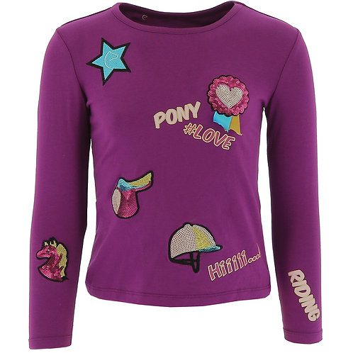 "EQUI-KIDS""PONYLOVE"" T-SHIRT WITH BADGES-GIRLS"