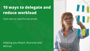 10 ways to delegate and reduce workload