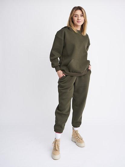 Костюм худи 2-х сторонний с широкими брюками
