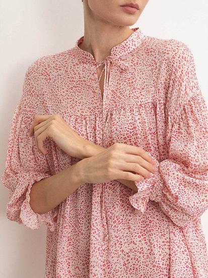 Блуза с мельким принтом