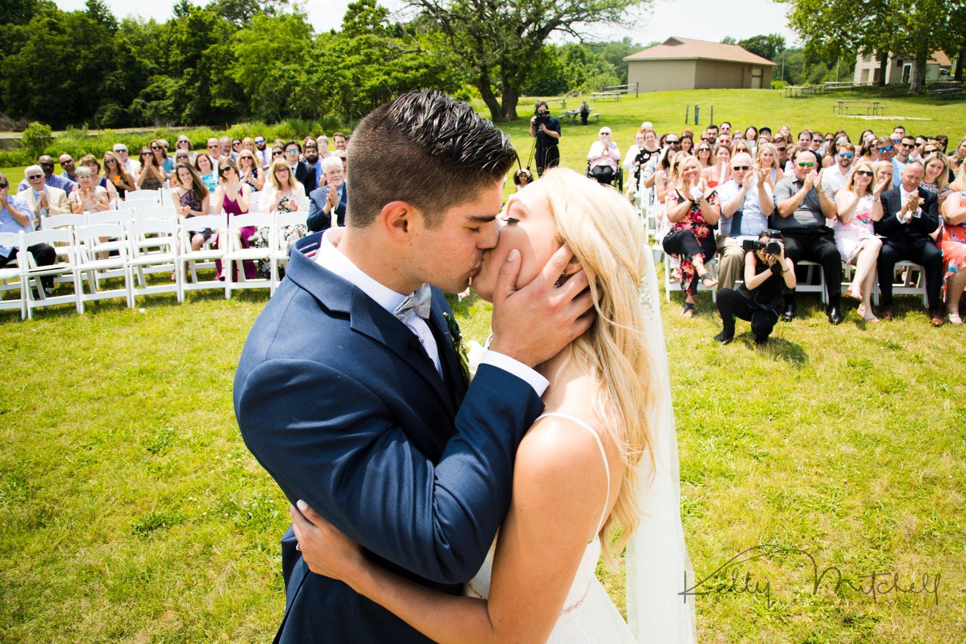 unique wedding ceremony photos, wedding guest dress, outdoor wedding venue