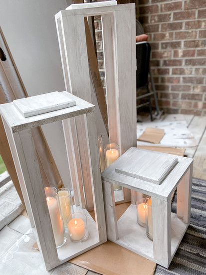 White Wooden Lanterns_Assorted Sizes
