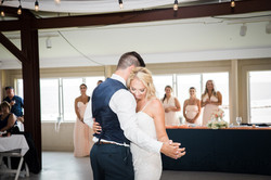 tim mcgraw first dance, bridesmaids blush dress, navy groom suit, wedding reception, maryland, the r