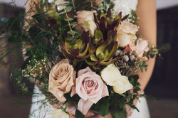 DIY flowers, cactus bouquet, lowes flowers, Nine19Photography RaleighNCWeddingPhotographer pink and