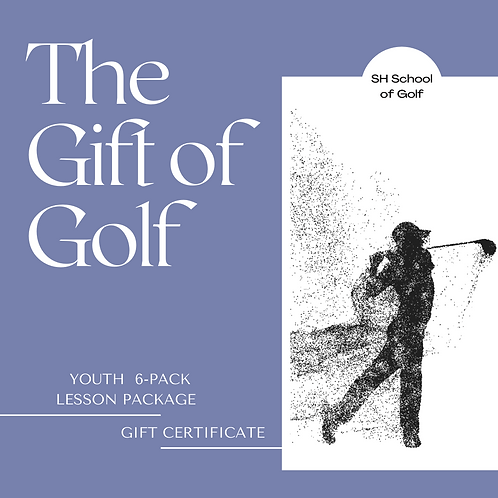 (17>) Youth 6-pack Lessons Gift Certificate