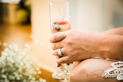 engagement ring, fresh fruit mimosa wedding morning babysbreath diy flowers
