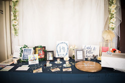 welcome table, diy guest book, unique guest book, navy blue and pink wedding, maryland wedding venue