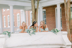 kappa delta wedding, longwood university, kappa delta founders bench, white roses, lilies, sorority