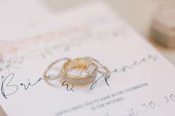 custom wedding band, custom engagement ring, custom stationery, wedding detail photos