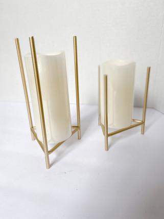 Metal Pillar Holder (5) assorted heights