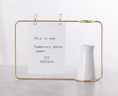 Gold Photo Hanging Vase