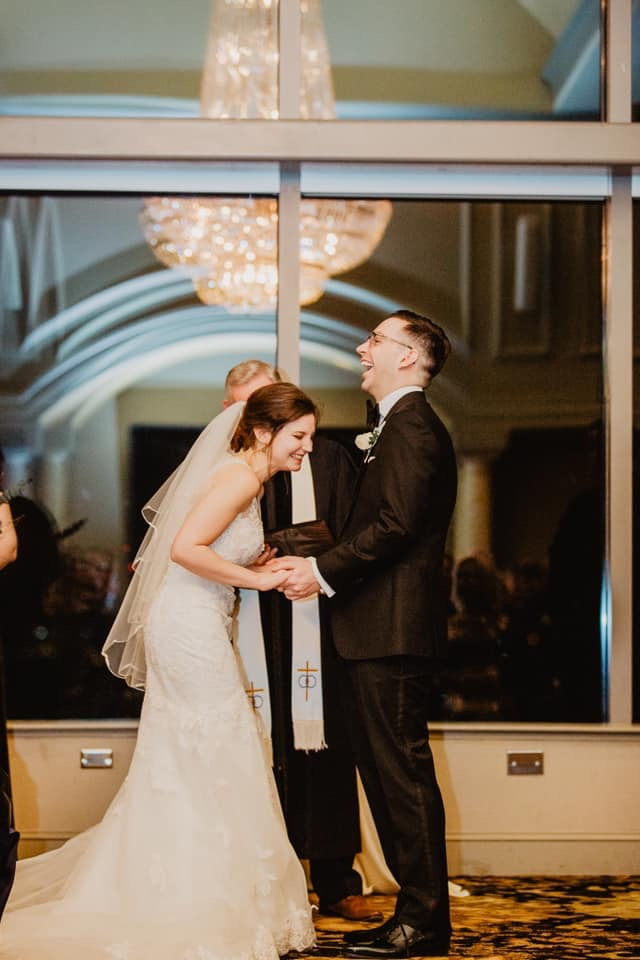 how to enjoy your wedding day, hire a planner, laughing bride, unique ceremony, penthouse ceremony,