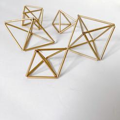 miniature geometric shapes - various shapes