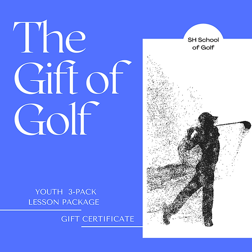 (17>) Youth 3-pack Lessons Gift Certificate