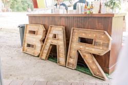 open Bar marquee letters, wooden marquee letters, wine and beer, truly bar, outdoor wedding bar, mob