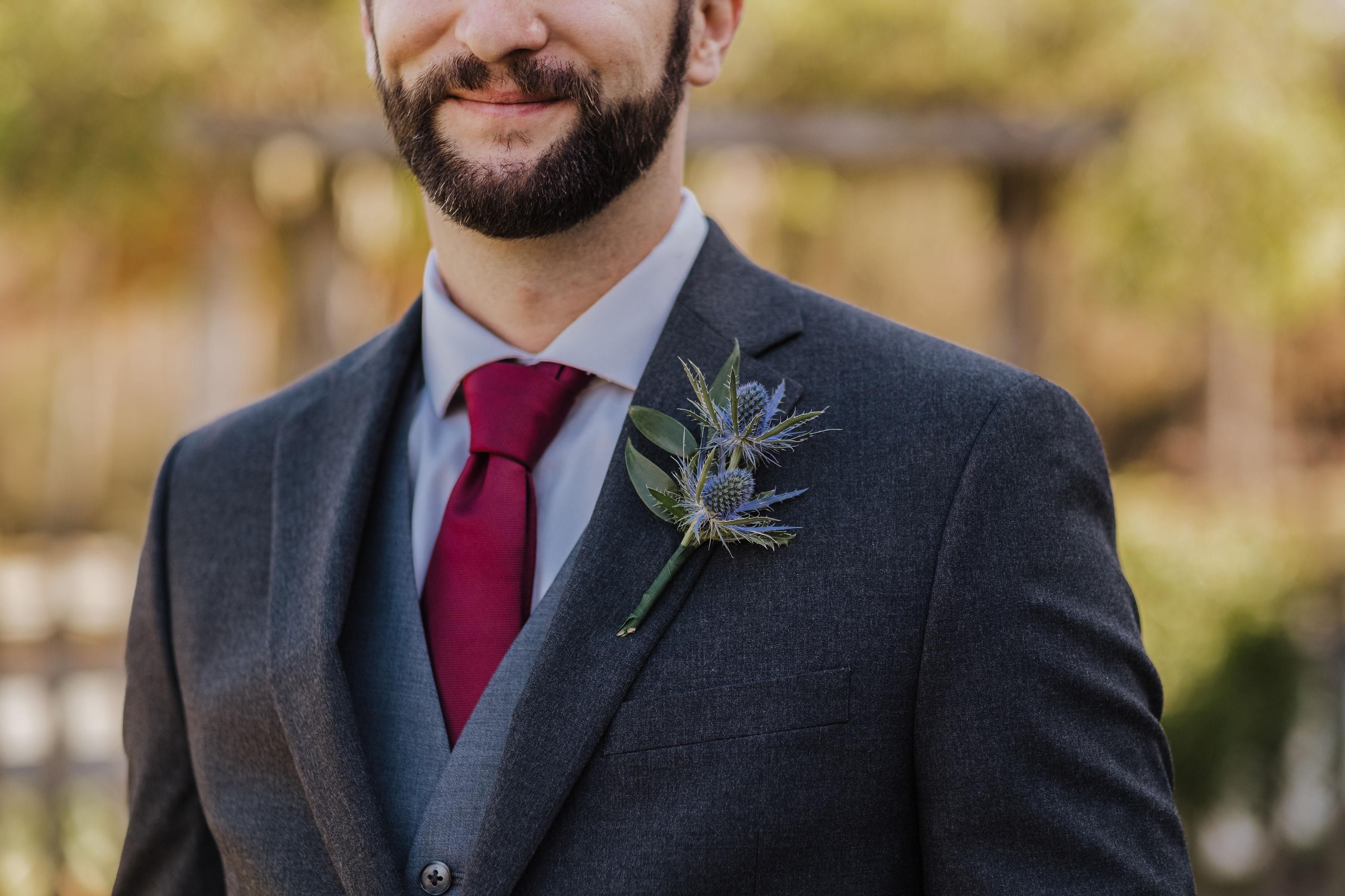 tg floral unique groom boutonniere
