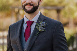 tg floral unique groom boutonniere