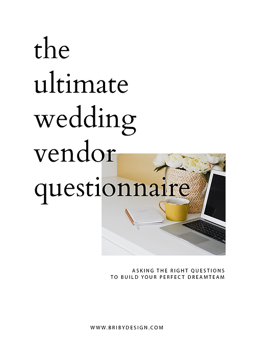 The Ultimate Wedding Vendor Questionnaire - Guide To Finding Your Right Vendors