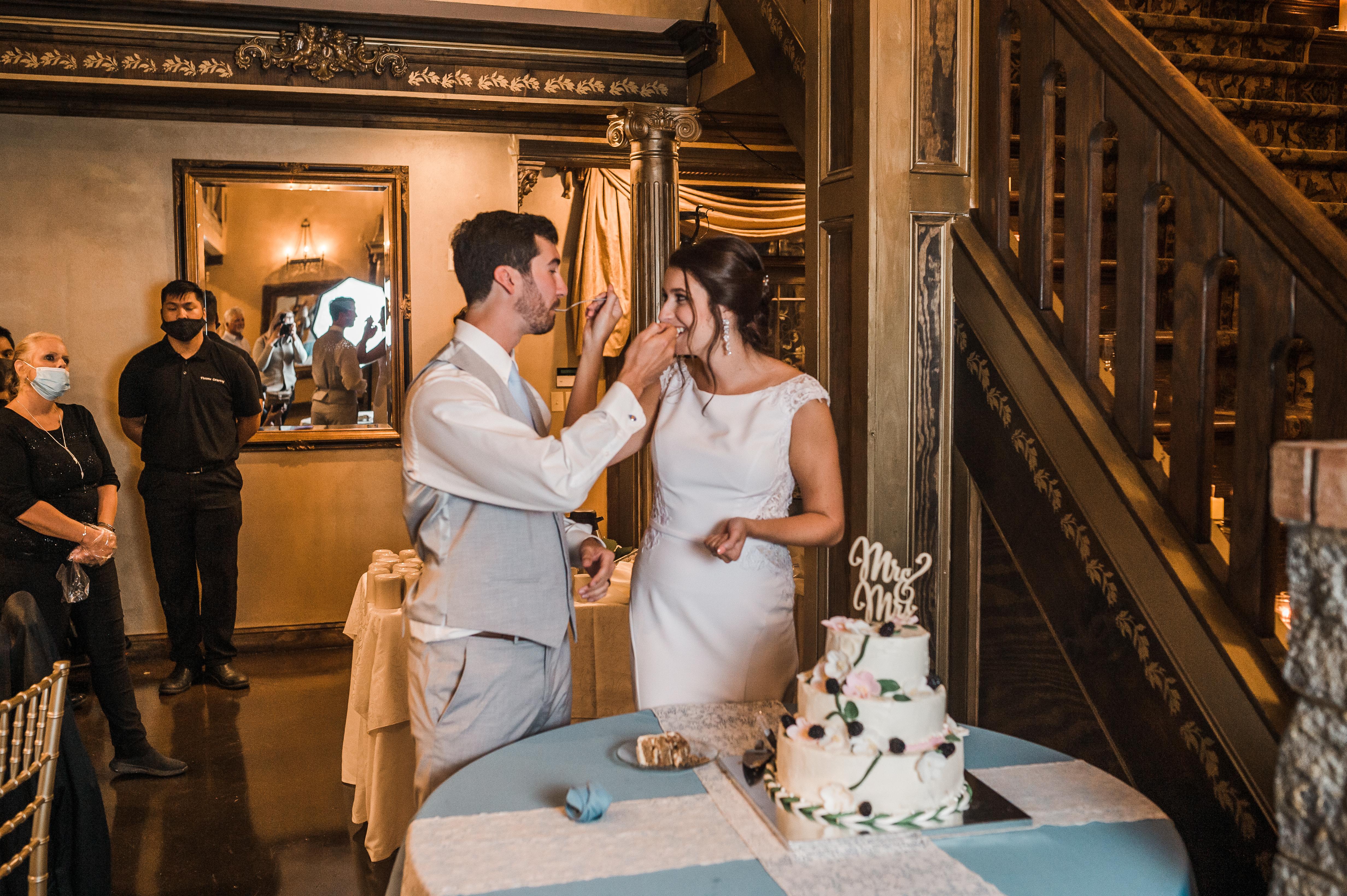 cake smash, cake cutting, newlyweds, angier north carolina