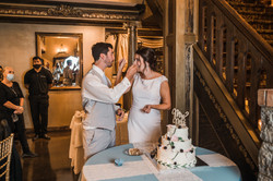 cake smash, cake cutting, newlyweds, angier north carolina