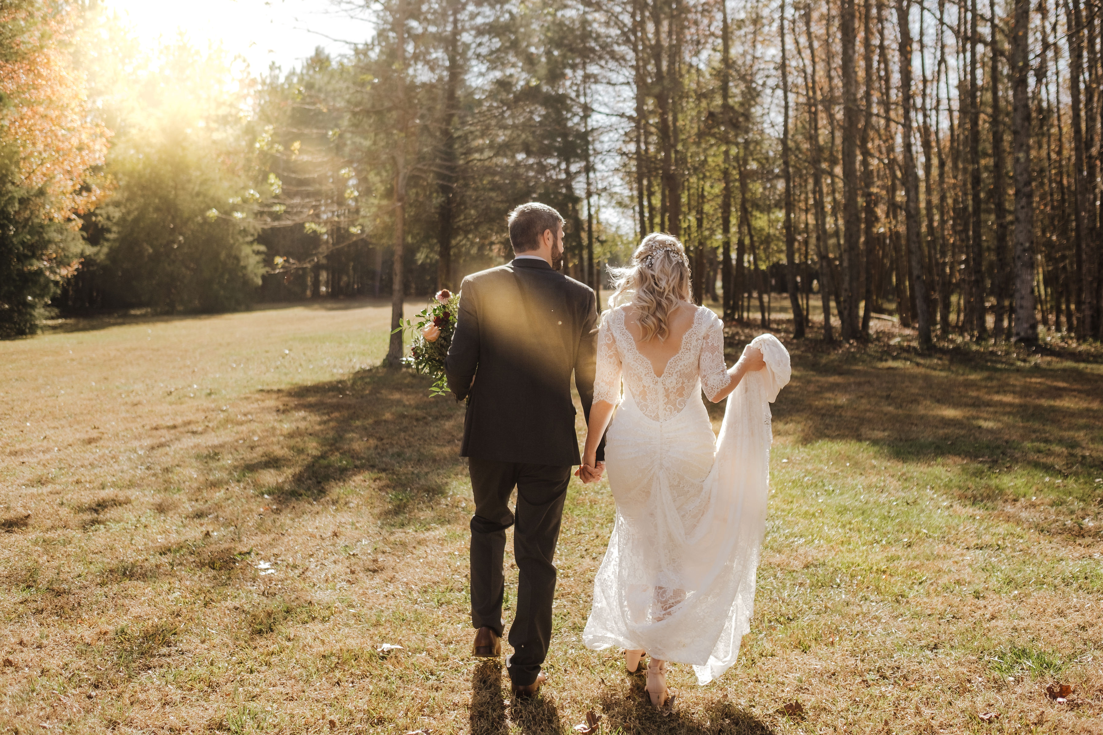 sunset elopement wedding