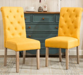 Yellow Upholstered Chairs (2)
