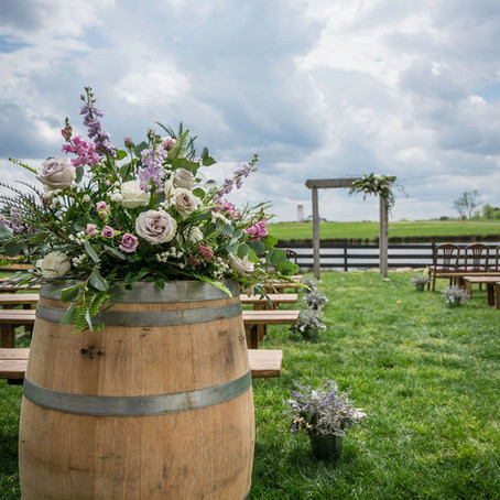 Wedding at Amazing Graze Barn; Central NC