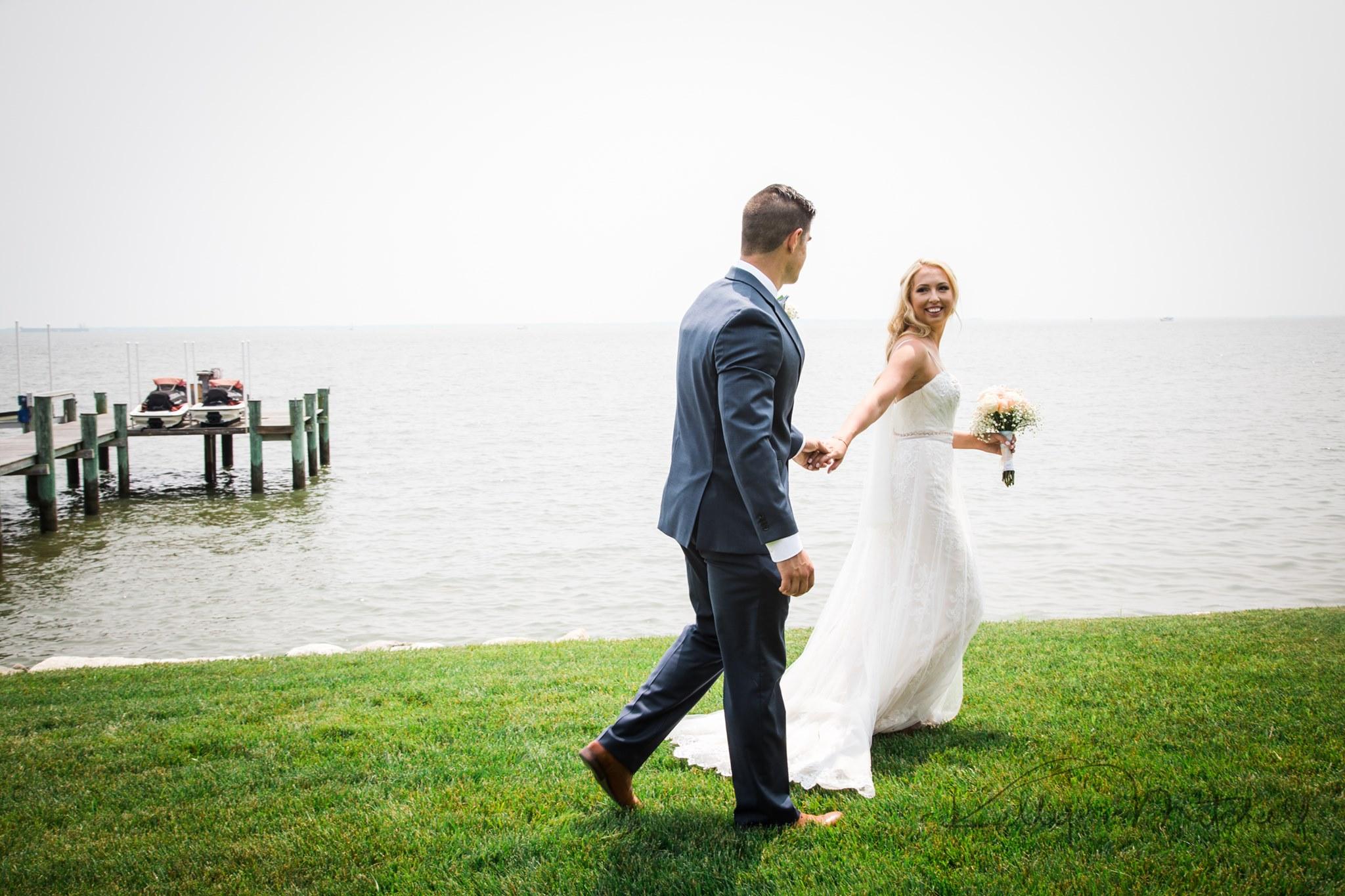 waterfront wedding walk, easton md wedding venue, consignment wedding dress, bridal shop