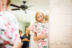 mother of the bride getting ready, emotional wedding day photo