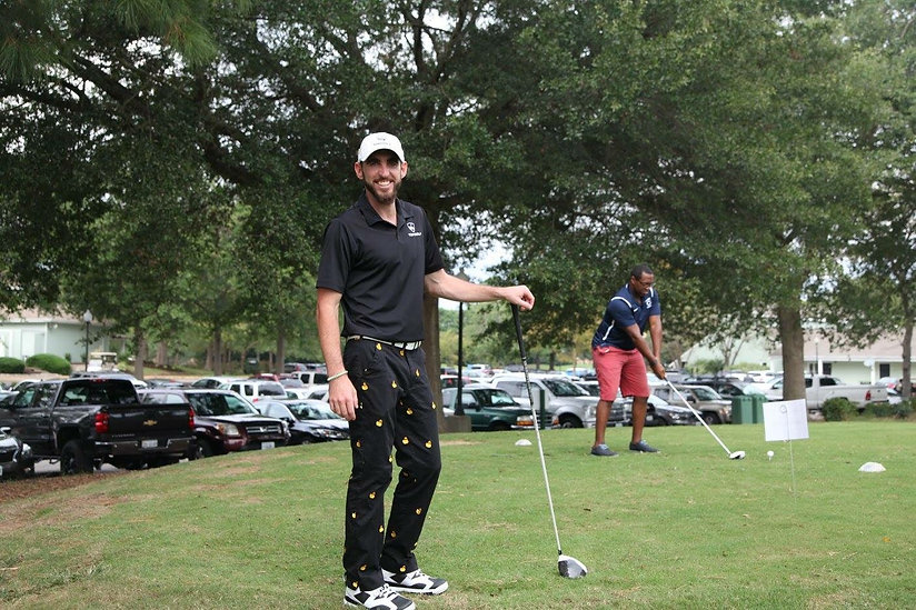 loudmouth pants and golf swing