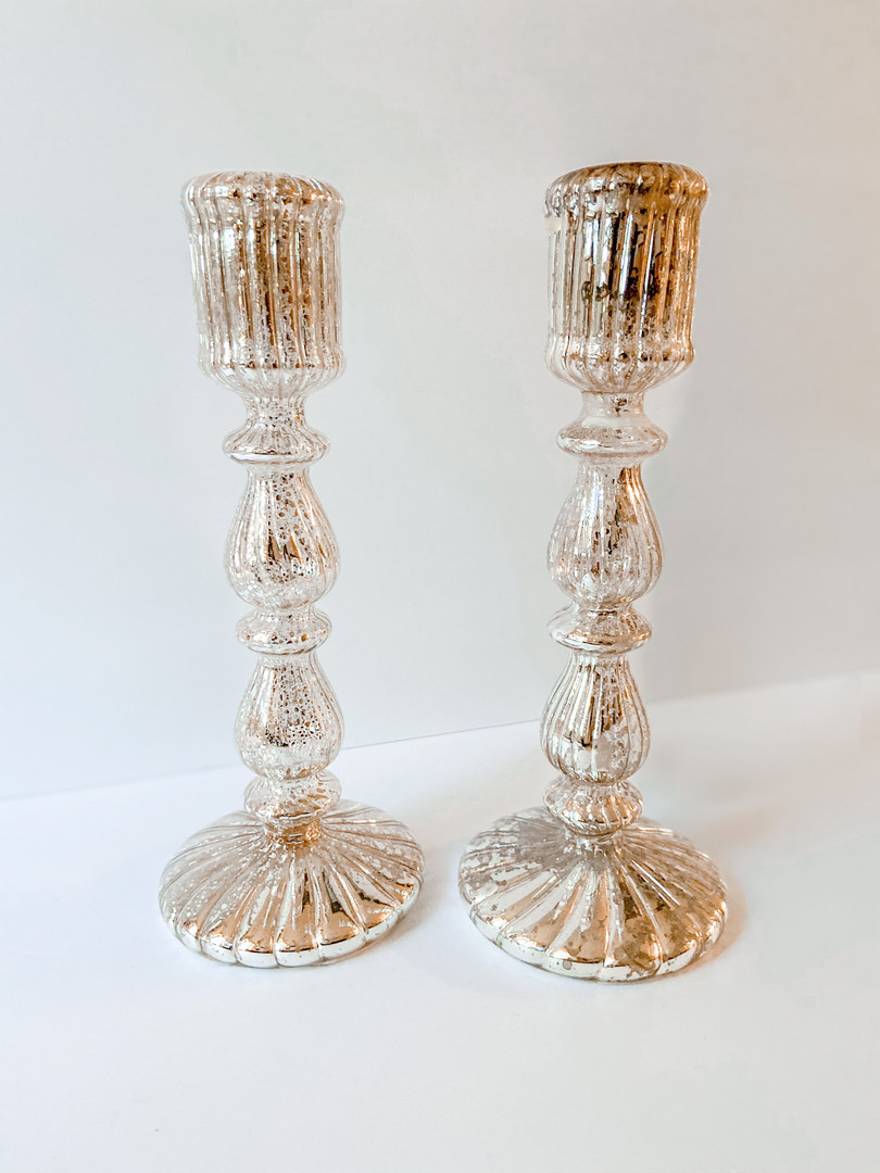Crystal Gold candle sticks (3)