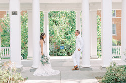 longwood university in farmville virginia, central virginia wedding, college wedding, bride and groo