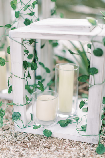 Ivy wrapped wooden lanterns _assorted sizes