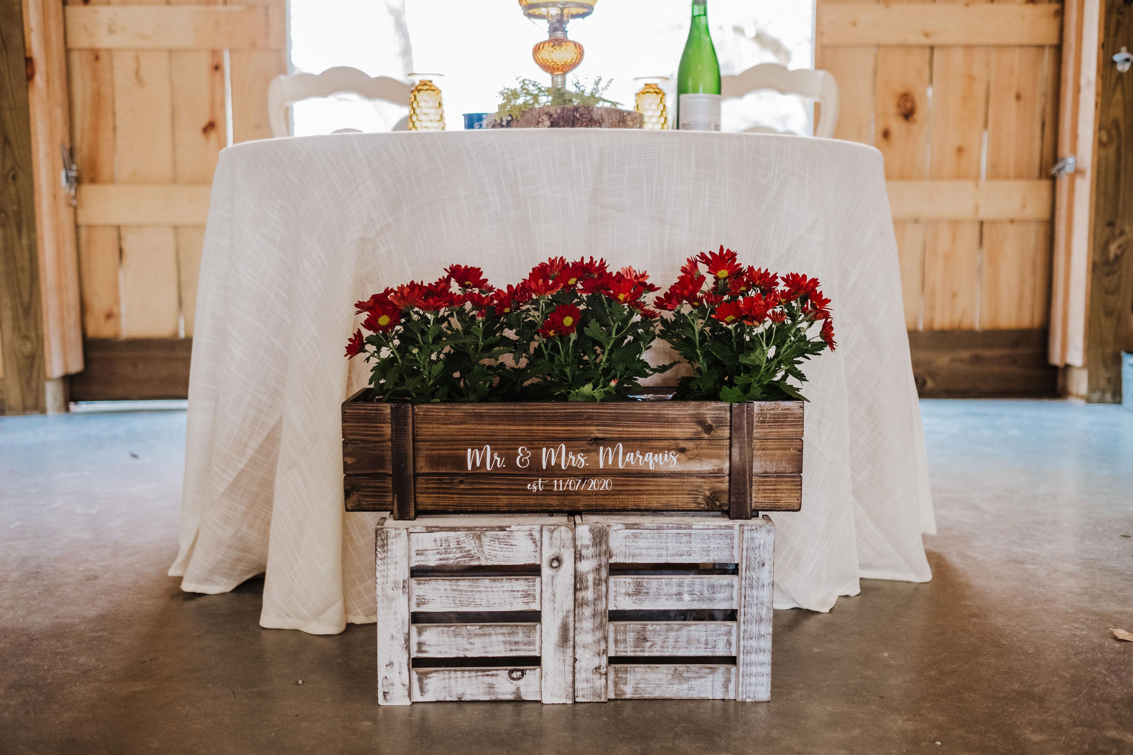 fall wedding sweetheart table