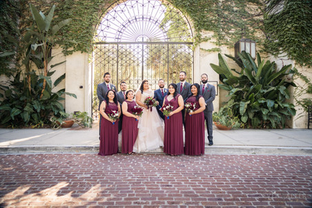 Bridal Party LA River Center and Garden Wedding