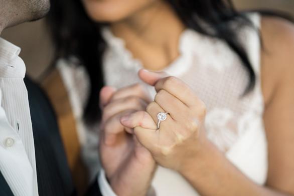 Ring Shot Engagement Photo