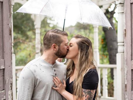 Rainy Day Engagement Photos | Temecula California
