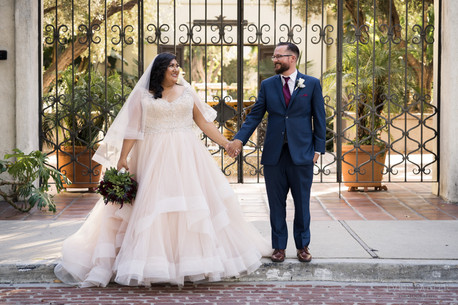 LA River Center Gate Wedding Photo