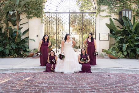 Bridesmaids at LA River Center and Garden