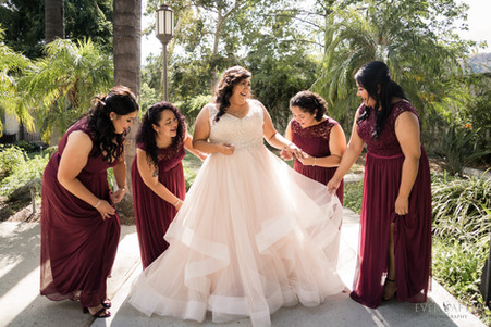 LA River Center Bridesmaids Berry Theme