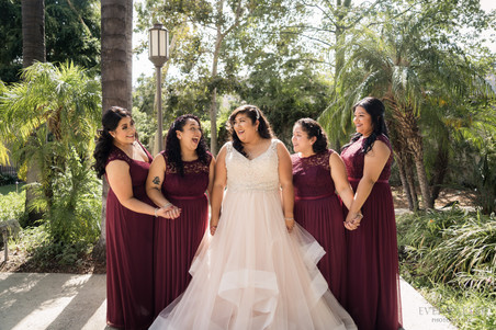 Bridesmaids LA River and Gardens