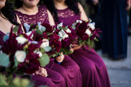 Bridesmaids Flower Details at LA River Center