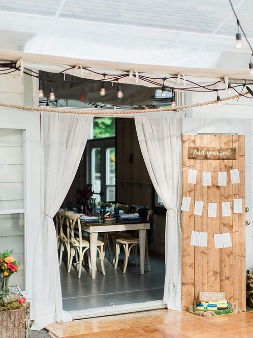 Wood Plank Seating Chart