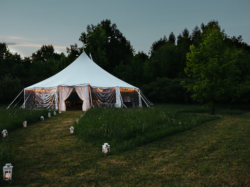 10 Essentials for an Outdoor Tent Wedding