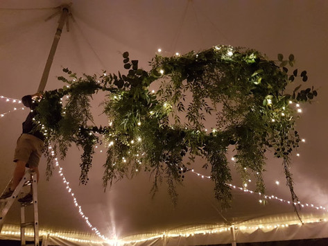 Wreath chandeliers