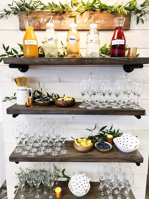 White Plank Display Wall