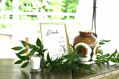 Brass Frame Signs + Table Numbers
