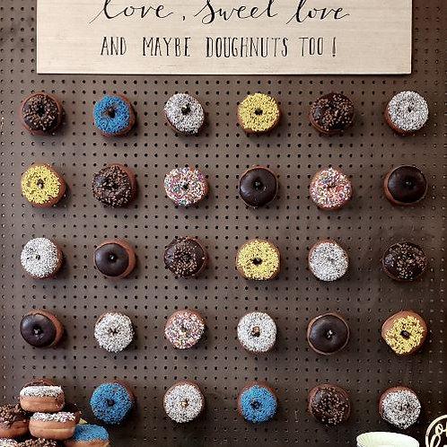 Chocolate Doughnut Wall