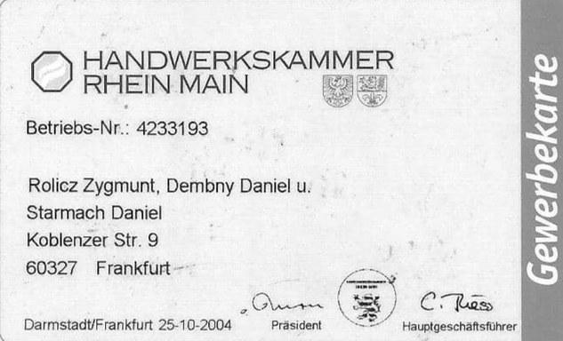 Firma Frankfurt