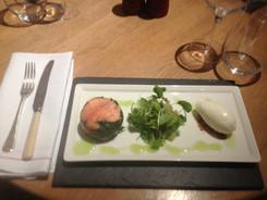 Salmon Ballentine & Yoghurt Sorbet